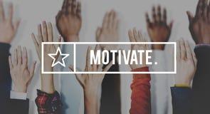 Motivez le but d'aspiration encouragent des attentes d'inspiration concentrées Photos libres de droits