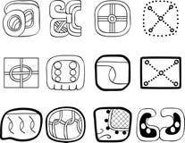 Motivi del Mexican, dell'Azteco o del maya, glyphs Fotografia Stock Libera da Diritti