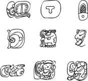 Motivi del Mexican, dell'Azteco o del maya, glyphs Fotografie Stock Libere da Diritti