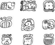Motivi del Mexican, dell'Azteco o del maya, glyphs Immagine Stock Libera da Diritti