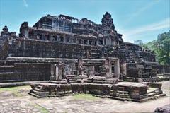 Motivi del tempio della Cambogia Fotografie Stock Libere da Diritti