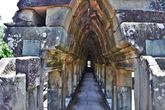 Motivi del tempio della Cambogia Fotografia Stock Libera da Diritti