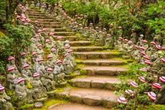 Motivi del tempio di Miyajima, Giappone immagini stock
