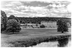 Motivi di Derbyshire Peakdistrict della Camera di Chatsworth Fotografie Stock