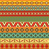 Motivi etnici delle strisce Fotografia Stock