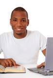 Motivierter schwarzer Kursteilnehmer lizenzfreies stockfoto