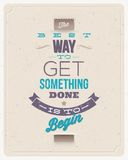 Motivierungs-Zitat-Design Lizenzfreies Stockfoto