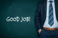 Motivkonzept des guten Jobs Lizenzfreies Stockfoto