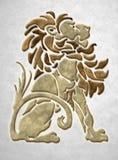 Motivo arquitectónico do leão de pedra imagens de stock royalty free