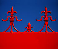 Motivo arquitectónico vermelho & azul Fotografia de Stock