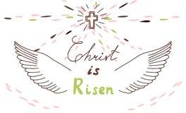 Motivo cristiano de Pascua con las letras y bosquejo libre illustration
