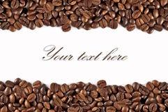 Motivo de Coffe en el fondo blanco Imagen de archivo libre de regalías