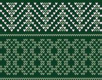 Motivo de confecção de malhas tradicional sem emenda Imagens de Stock Royalty Free