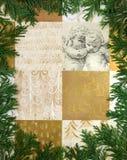 Motivo de Cypress Imagen de archivo libre de regalías