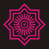 Motivo del batik Fotografía de archivo
