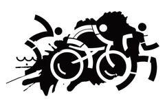 Motivo del grunge del Triathlon Imagen de archivo libre de regalías