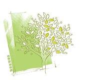 Motivo dell'albero, disegno della priorità bassa illustrazione vettoriale
