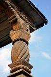Motivo di legno intagliato Immagini Stock Libere da Diritti