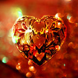 Motivo do coração do metal no fundo textured Fotos de Stock