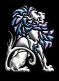 Motivo do leão do metal ilustração stock
