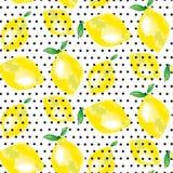 Motivo do limão contexto traseiro vívido da forma do conceito ilustração stock