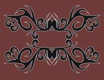Motivo do tribo do Dayak imagens de stock royalty free