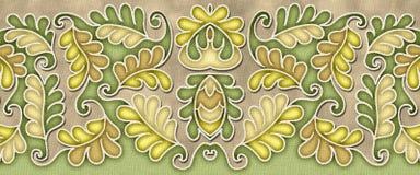 Motivo elegante do teste padrão da folha ilustração royalty free
