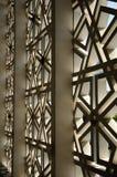 Motivo esterno della parete alla moschea nazionale aka Masjid Negara della Malesia Fotografia Stock Libera da Diritti