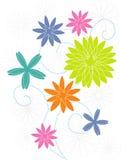 Motivo estilizado da flor Imagens de Stock Royalty Free