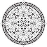 Motivo floral árabe do teste padrão ilustração do vetor