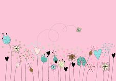 Motivo floreale stilizzato Fotografie Stock