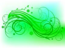 Motivo floreale verde Fotografia Stock