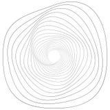 Motivo geometrico circolare Elemento astratto di op-arte di gradazione di grigio illustrazione di stock