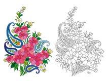 Motivo indiano de matéria têxtil Fotografia de Stock Royalty Free