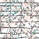 Motivo moderno da selva das listras Branco preto ilustração royalty free