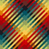 Motivo ripetibile variopinto con le linee diagonali illustrazione di stock