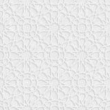Motivo a stelle di arabesque con la luce Grey Background, vettore di lerciume Fotografia Stock