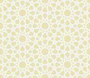 Motivo a stelle islamico con fondo leggero Fotografia Stock