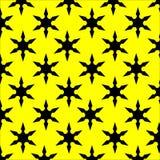 Motivo a stelle nero e giallo Fotografia Stock Libera da Diritti