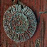 Motivo tallado en la puerta Fotografía de archivo libre de regalías
