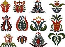Motivos coloridos da flor Imagem de Stock Royalty Free