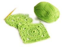 Motivos Crocheted do algodão Imagem de Stock