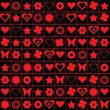 Motivos de la tarjeta del día de San Valentín Fotos de archivo