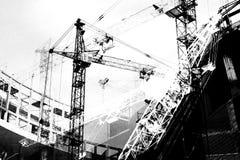 Motivos de uma indústria de edifício Imagens de Stock