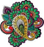 Motivos do tatuagem do Henna Fotografia de Stock Royalty Free