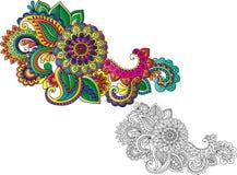 Motivos do tatuagem do Henna Fotografia de Stock