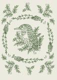 Motivos florais dos cartões do vintage Imagem de Stock Royalty Free