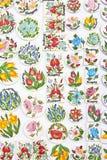 Motivos húngaros de la flor Imagen de archivo libre de regalías