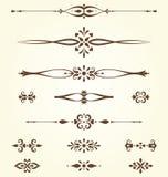 Motivos ornamentado ajustados Fotos de Stock Royalty Free