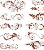 Motivos ornamentado ajustados Fotografia de Stock
